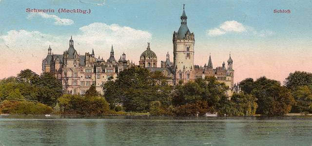 Schwerin Castle around 1920