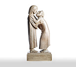 Ernst Barlach: The Goodbye (Christ and Thomas)