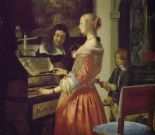 Frans van Mieris d. Ä., lady with harpsichord