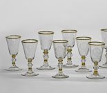 Ten goblets from a service for Christian Ludwig II. of Mecklenburg-Schwerin